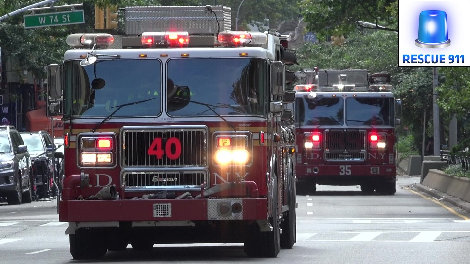 Engine 40 + Ladder 35 FDNY (stream)