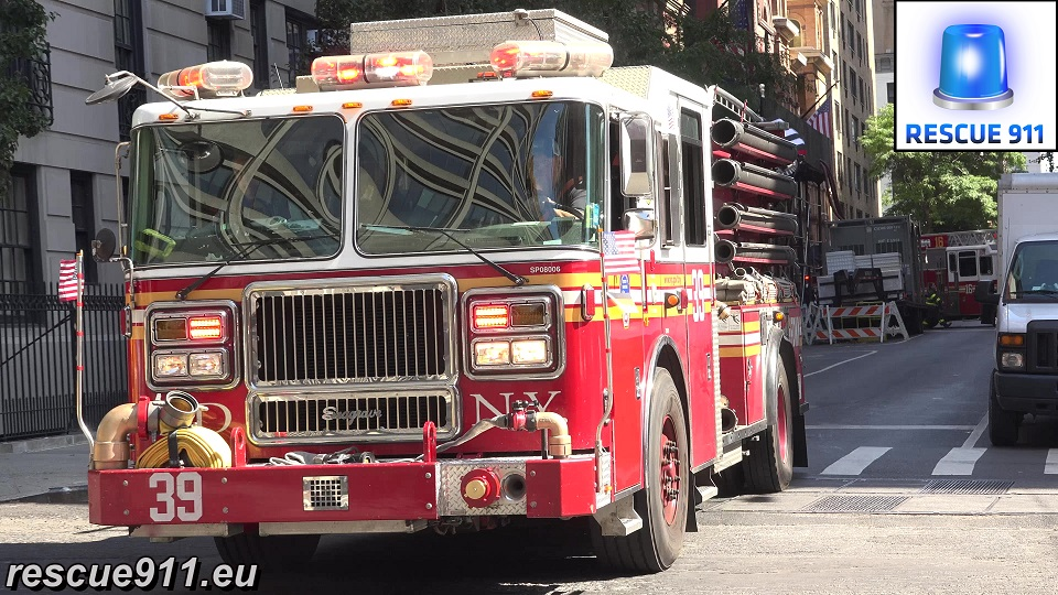Engine 39 +  Ladder 16 FDNY (stream)