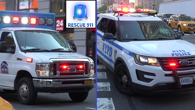 2x Police Cruiser + Police Van NYPD + 2x NYC Hospital Ambulance (stream)