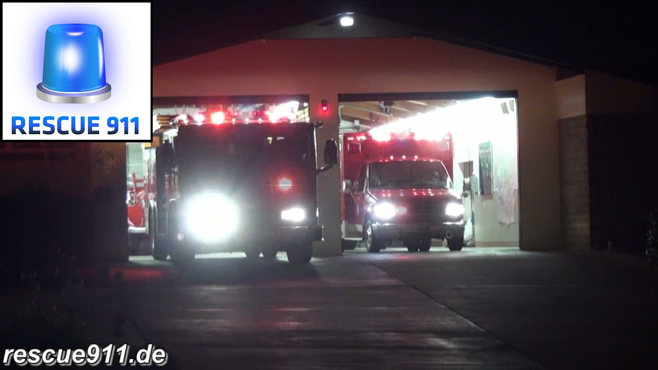 Engine 1 + Ambulance 1 Carlsbad Fire Department (stream)