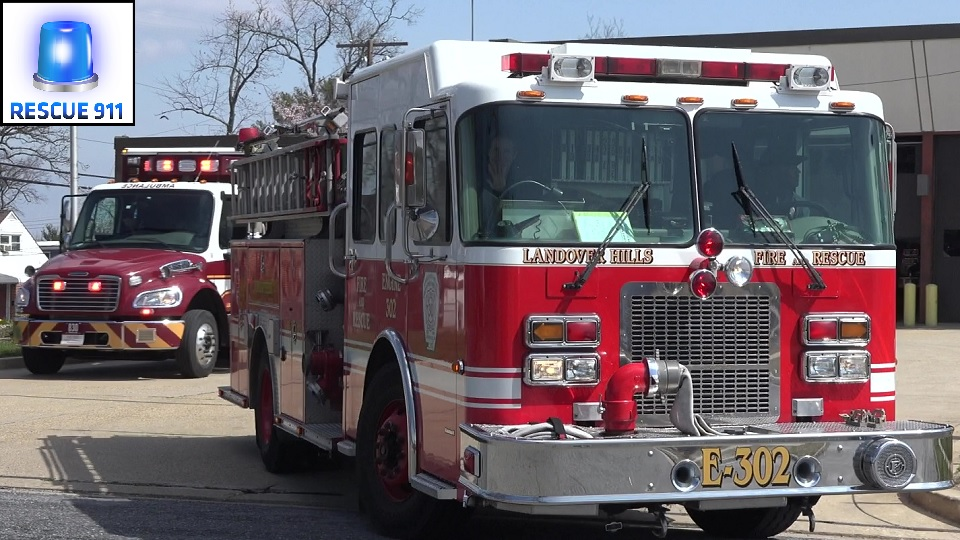 Paramedic Engine 830B + Ambulance 830 Landover Hills Volunteer Fire Department (stream)