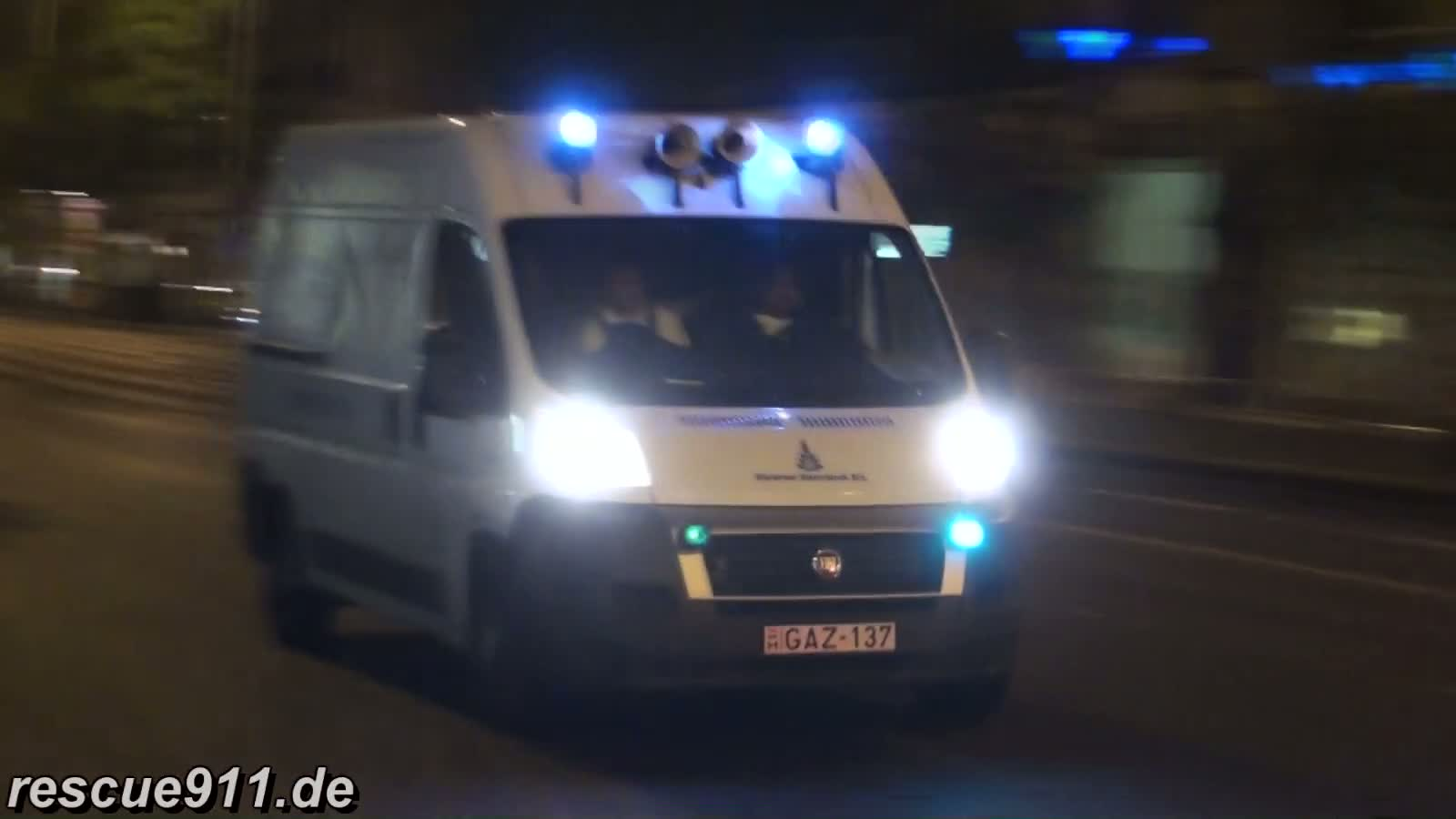 Emergency vehicle gas services Budapest (stream)