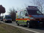 Many many ambulances (approx.75 vehicles)
