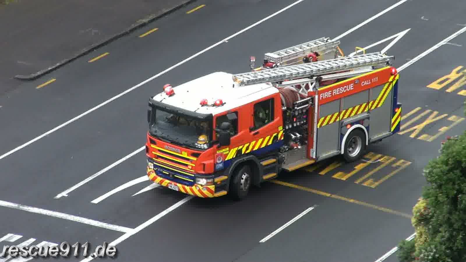 Pump 207 New Zealand Fire Service Auckland City FS (collection) (stream)