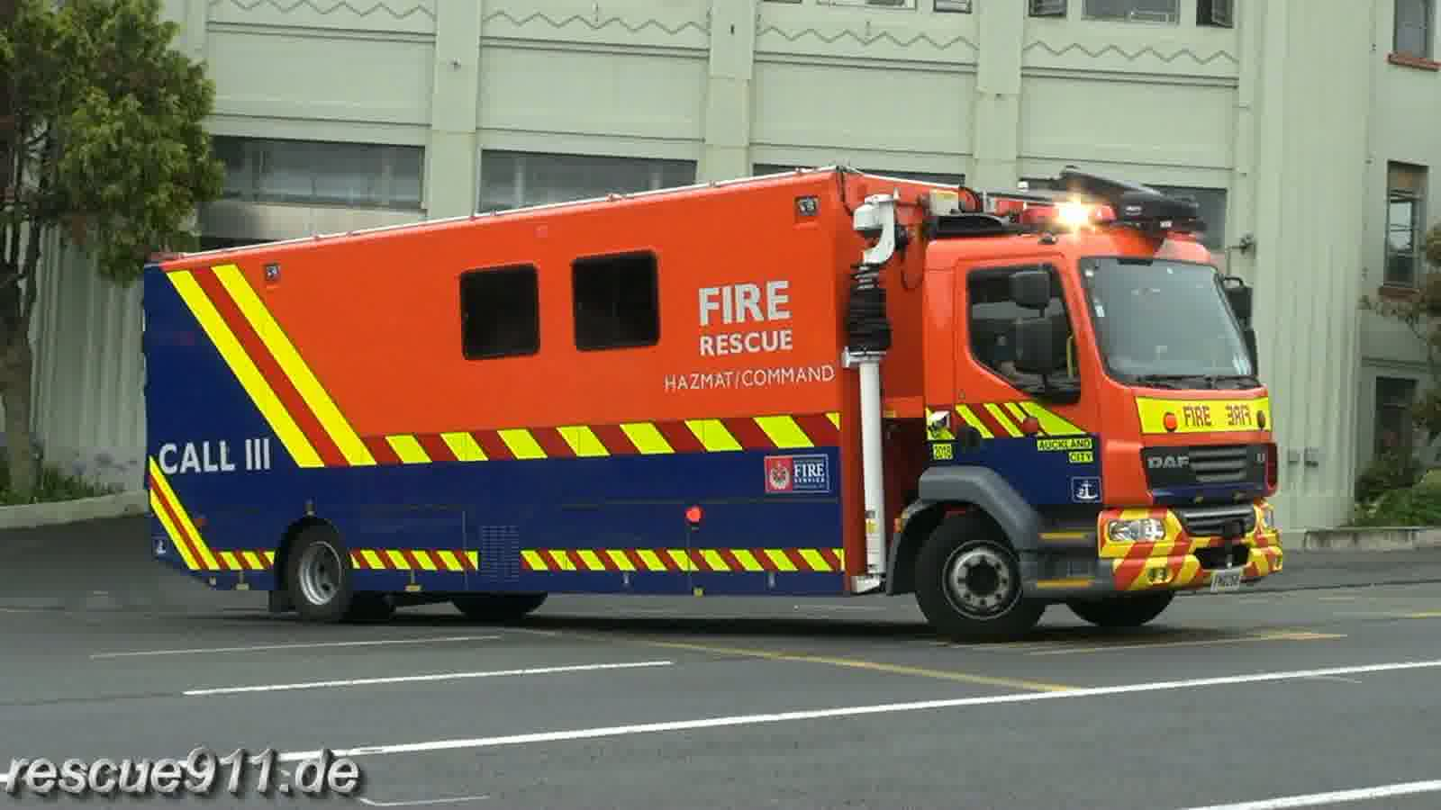 Hazmat/Command unit 2018 New Zealand Fire Service Auckland City FS (stream)