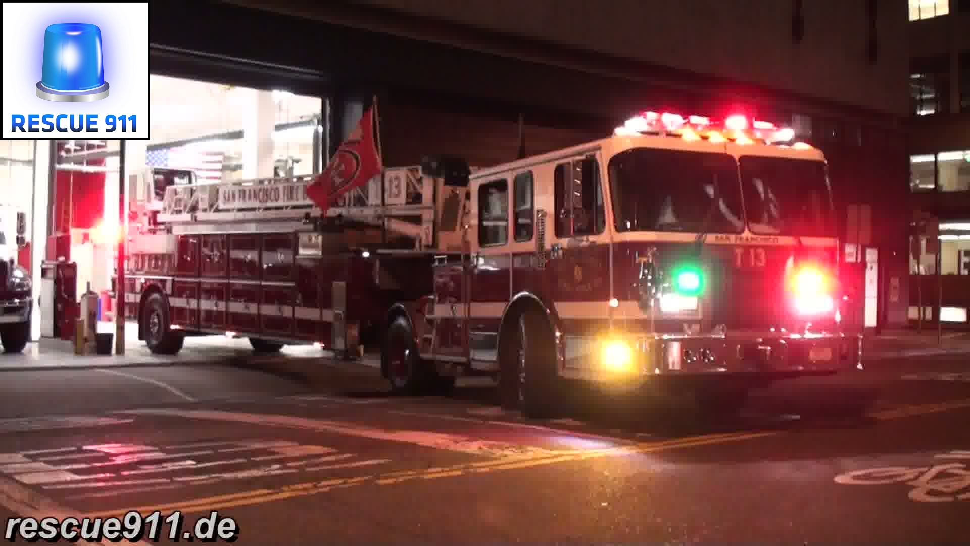 Engine 13 + Truck 13 SFFD (stream)