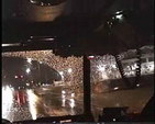 INSIDE VIEW - Engine 1 riding with - EMS in rain