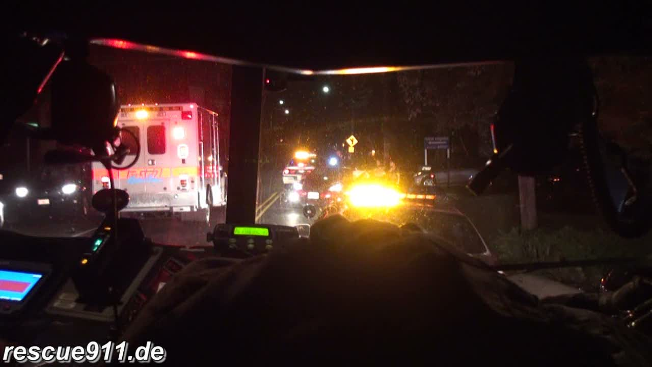 INSIDE VIEW - Engine 825 + Ambulance 825 CVFD/PGFD (stream)