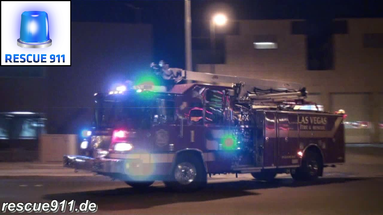 Engine 1 + Ambulance 301 Las Vegas Fire-Rescue (stream)