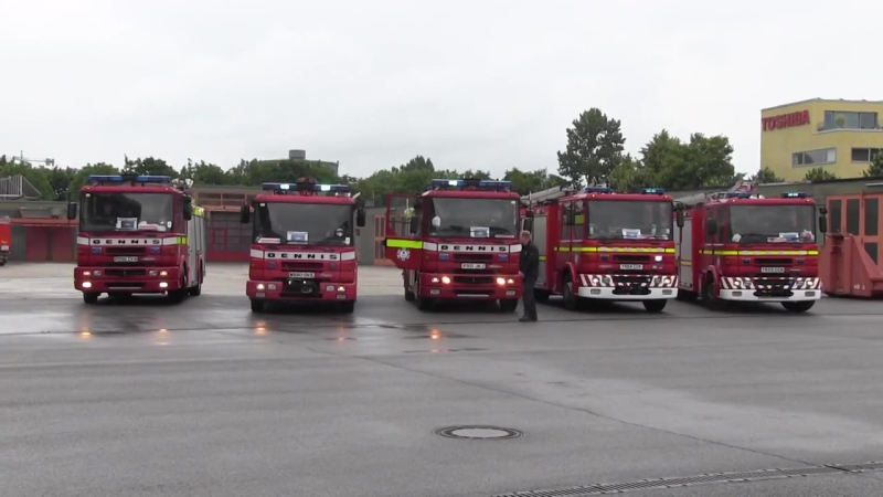 5x Pump Ladder Shropshire Fire and Rescue Service (Zusammenschnitt)