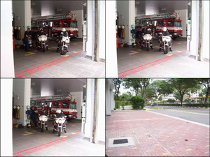 Fire bike team Singapore Civil Defence Force