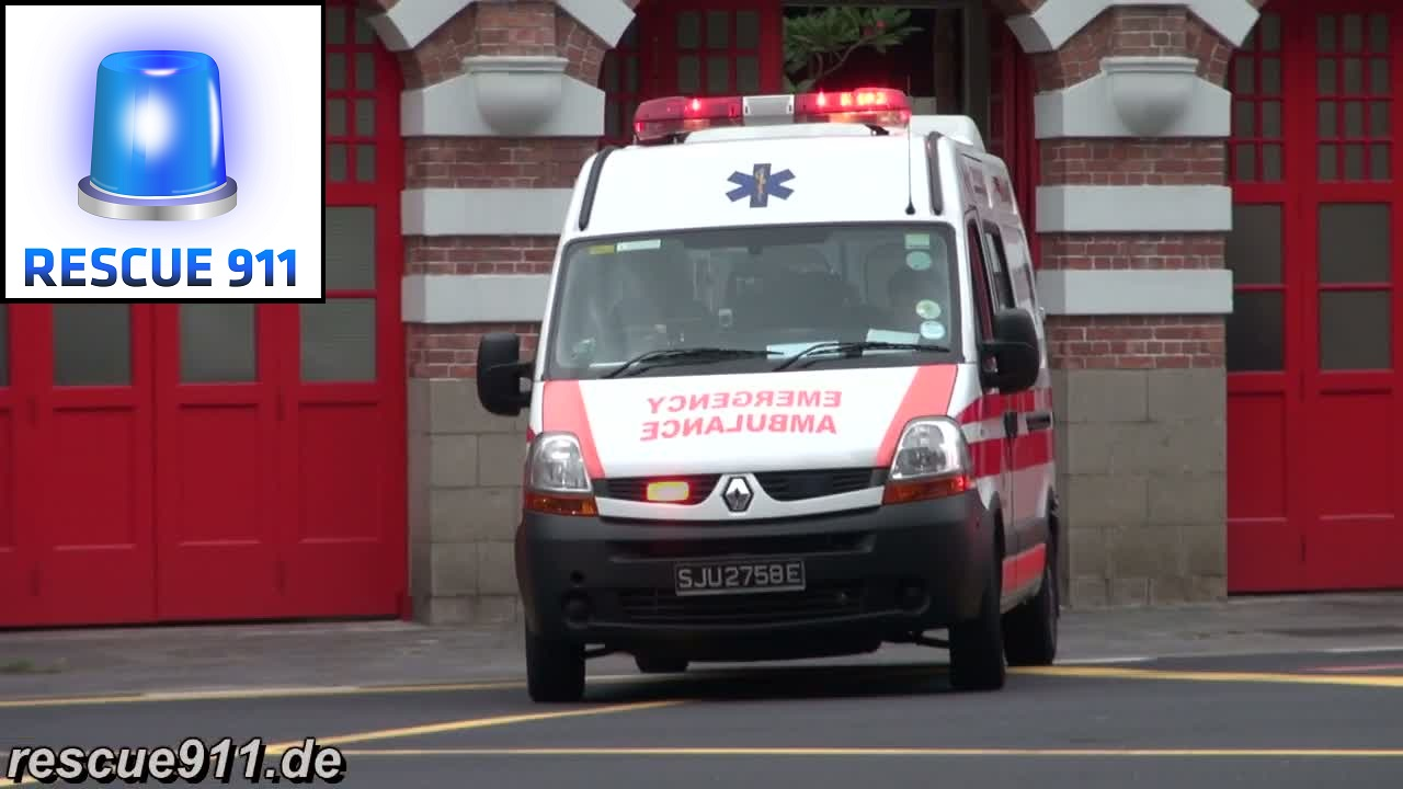 Ambulance PA111 SCDF Central Fire Station (collection) (stream)