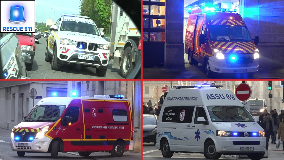 Ambulance Privées + SAMU + Sapeurs Pompiers + Police Lyon (collection) (stream)