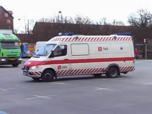 Bed ambulance from Falck