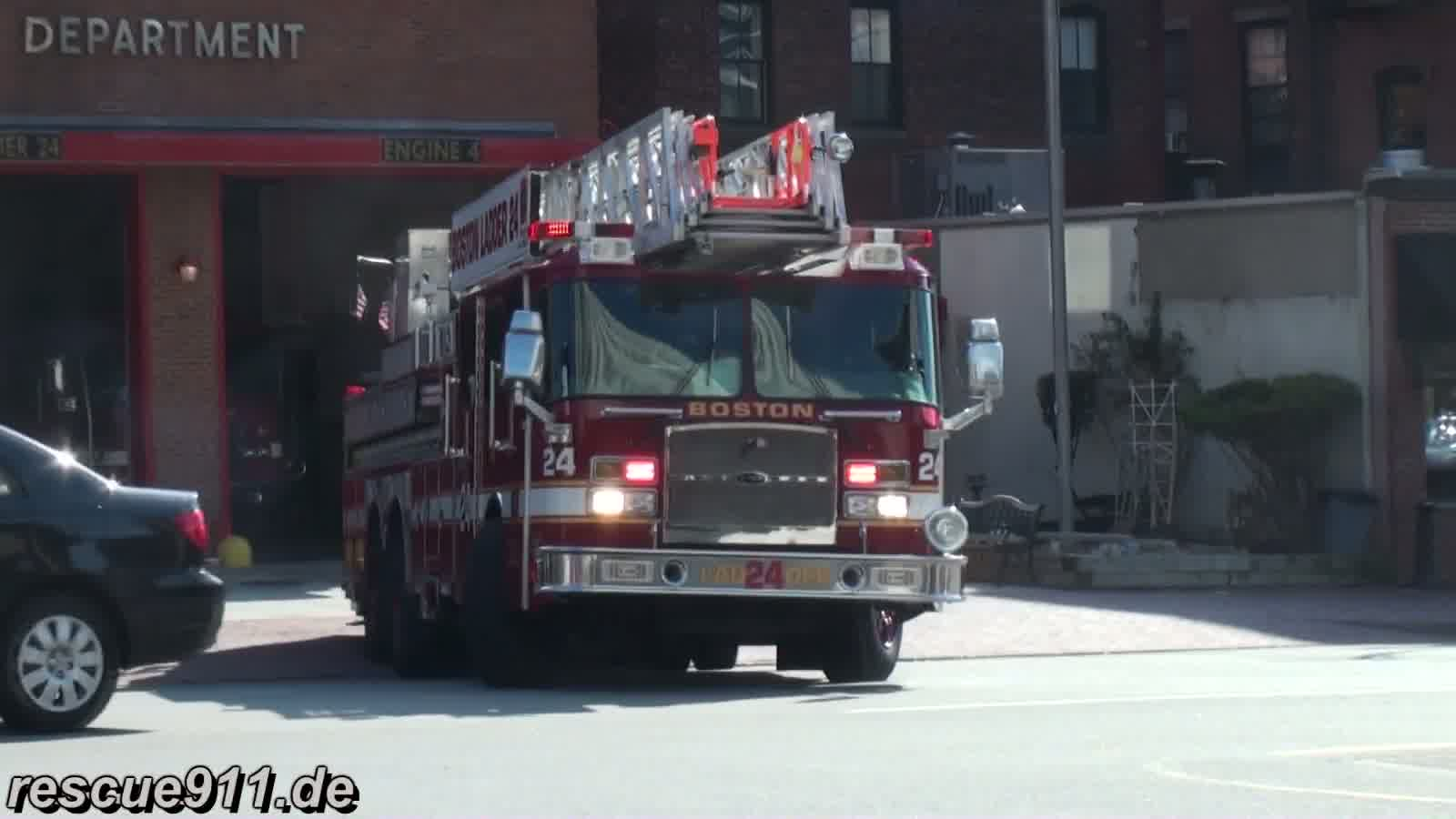 Ladder truck 24 Boston Fire Department (stream)